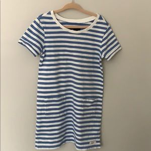 GAP KIDS girls blue & white striped t-shirt dress